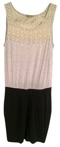 Bordeaux short dress Gray Lace Jersey on Tradesy