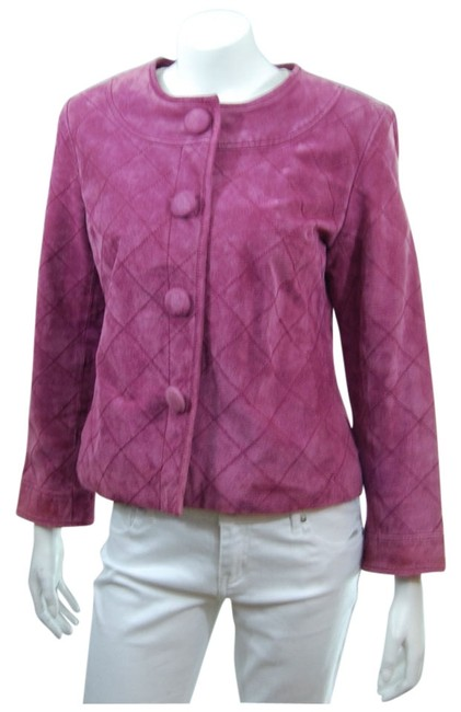 Coldwater Creek Leather rose Leather Jacket