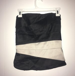 Charlotte Russe Shirt Strapless Top Black/cream