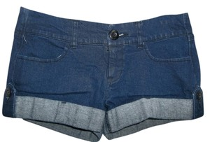 Jalate Jeans Cuffed Button Tabs Size 5 Zipper Short Shorts Denim Shorts-Medium Wash
