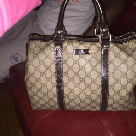 Gucci Tote in Brown And Beige