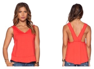 Free People Top Orange Red