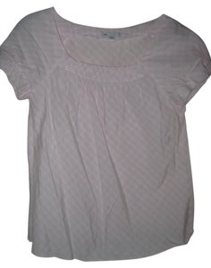 Gap Checkered Top Light pink