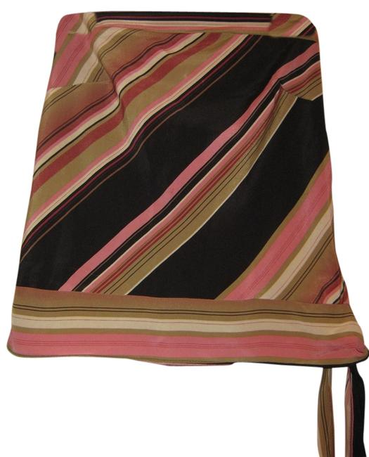 Younique Clothing Strapless Top Pink/black/tan
