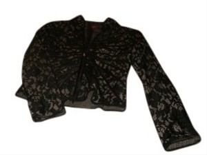 JS Collections Sexy Lace Look Bronze and black Jacket