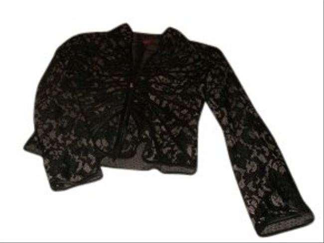 JS Collections Bronze and Black Evening Jacket Size 6 (S) JS Collections Bronze and Black Evening Jacket Size 6 (S) Image 1