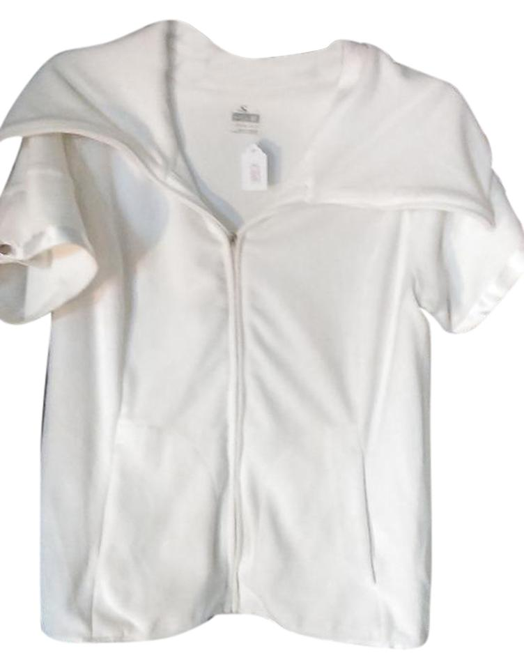 548d1980ba943 Nike White Classic Short Sleeve Hoodie Activewear Top. Size  8 ...