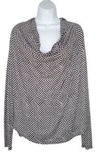 Michael by Michael Kors Cowl Neck Geometric Knit T Shirt