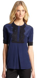 Marchesa Voyage Top French Navy Black
