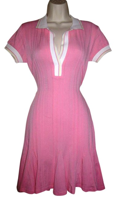 Preload https://item4.tradesy.com/images/sharagano-pink-white-tennis-polo-striped-athletic-stretch-above-knee-short-casual-dress-size-8-m-373508-0-0.jpg?width=400&height=650