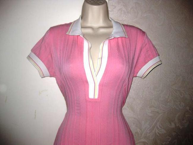 Sharagano short dress Pink White Tennis Polo Athletic Stretch Striped Nautical Preppy Country Club on Tradesy