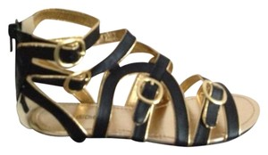 Pink Duchess Cute Brand New Black & Gold Sandals