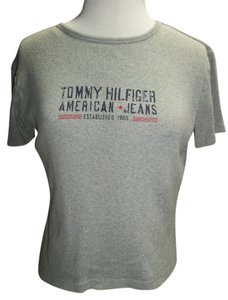 Tommy Hilfiger Logo Medium Cotton T Shirt Gray