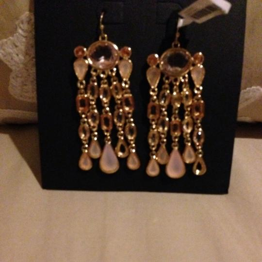 Banana Republic Chandelier Earrings With Rose Stones
