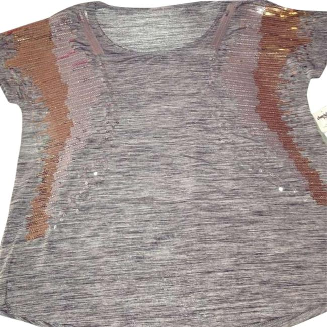 Charlotte Russe Sequin Gold Silver Top