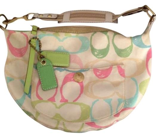 Coach Hampton Multi-color Pastal Hobo Bag