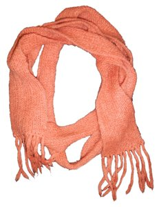 Other Salmon Orange Knitted Narrow Long Soft Boho Scarf