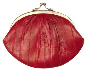 BeckSondergaard Purse Eel Skin Hand Made Red Clutch