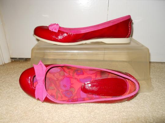 Marc Jacobs Leather red & pink Flats