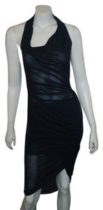 navy Maxi Dress by Helmut Lang