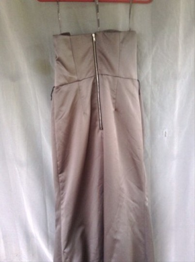 White by Vera Wang Silver Polyester Vw360059 Formal Bridesmaid/Mob Dress Size 6 (S)