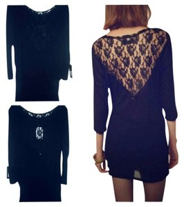 OBEY Lace Dressy Lace Trim Lace Sexy Edgy Urban Night Out Date Night Tunic
