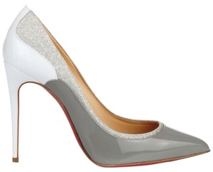 Christian Louboutin GREY/WHITE/SILVER Pumps