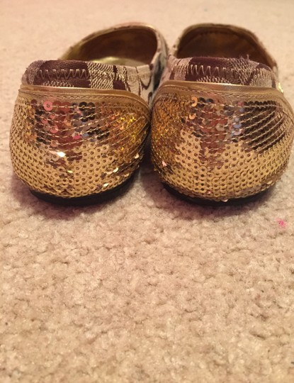 Coach Ballet Ballet Ballet Sequin Sequin Sequins Sparkle Sparkly Brand Sequin Gold Flats