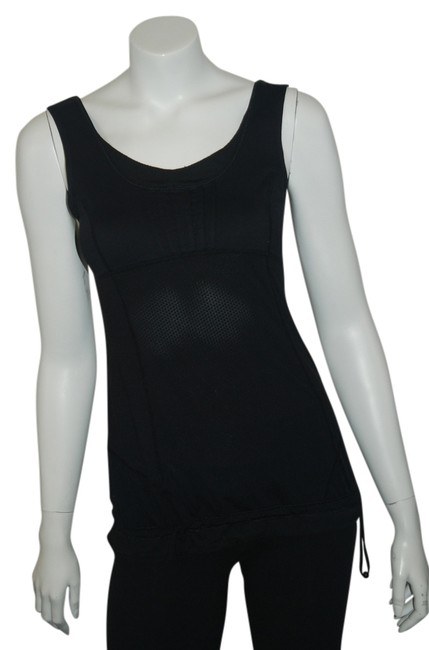 Lululemon LULU LEMON 121016 BLACK TOP W/DRAWSTRING BOTTOM SZ 4