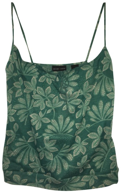 Item - Green Spaghetti Strap with Tie Front Tank Top/Cami Size 2 (XS)