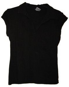 Old Navy Polo Shirt Top Black