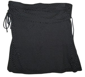 The Limited Strapless Shirt W/white Polka Dot Top Black