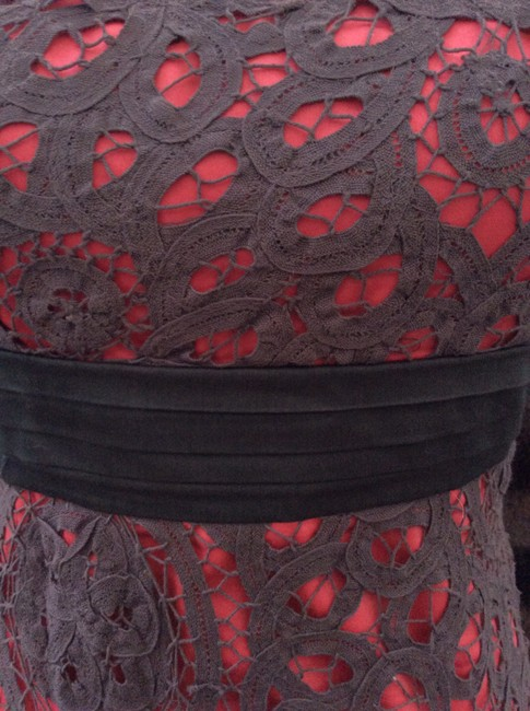 Floreat short dress pink/coral and charcoal on Tradesy
