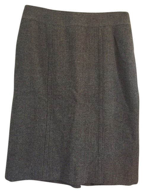 Banana Republic Skirt Gray Tweed