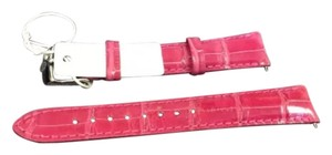 Michele Michele Hot Pink Alligator Band 16mm
