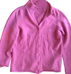 Denny Cashmere Orchid Button Soft Cardigan