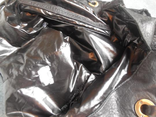 All You Need Leather Pebbled Dust Satchel in Black