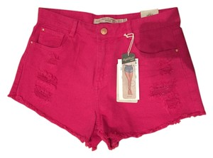 Zara Distressed Cut Off Mini/Short Shorts Pink