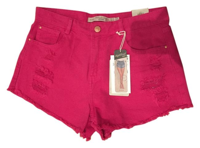 Preload https://item1.tradesy.com/images/zara-pink-trafaluc-high-waist-distressed-38-color-distressed-minishort-shorts-size-6-s-28-3737920-0-0.jpg?width=400&height=650