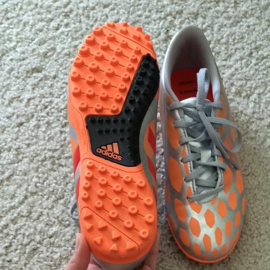 adidas Indoor Cleats Women's Orange And Silver Athletic
