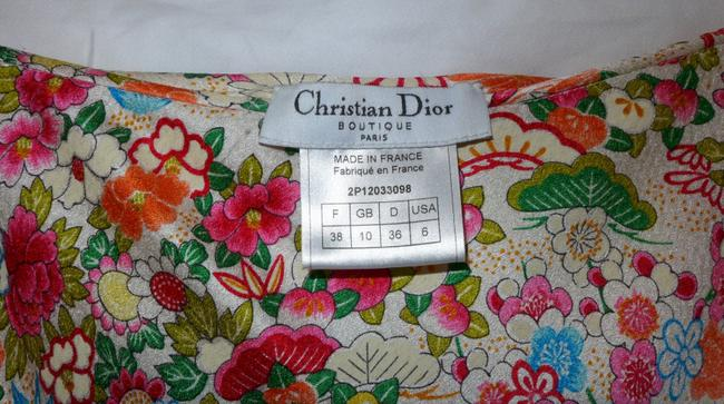 Dior Trumpet Chinoiserie Skirt Pink/White