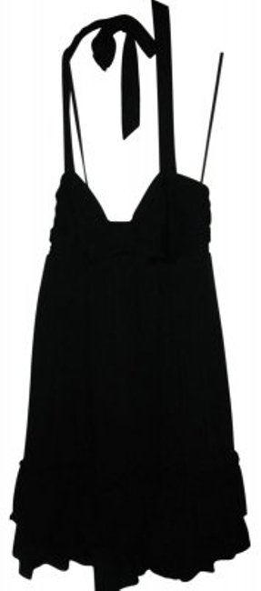 Preload https://item1.tradesy.com/images/black-lightly-padded-halter-with-ruffled-bottom-above-knee-short-casual-dress-size-6-s-37380-0-0.jpg?width=400&height=650