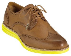 Cole Haan Natural/ Chartreuse Flats