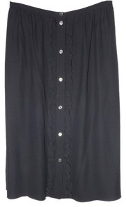 Céline Vintage Button Down Skirt Black