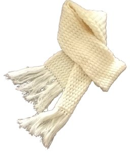 St. John Knitted White Scarf