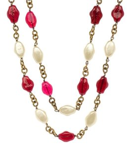 Chanel Chanel Vintage Faux Pearl Gripoix Necklace