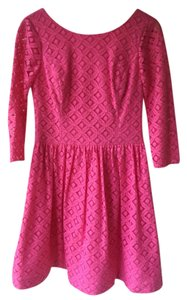 Lilly Pulitzer short dress PB Pink, XO Lace on Tradesy