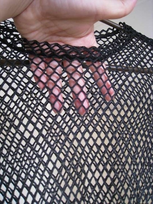 Other Fishnet See Through Mesh Top Black