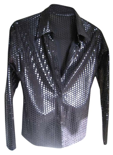 Preload https://img-static.tradesy.com/item/373935/unisex-sparkling-glittering-button-down-party-salsa-night-out-top-size-6-s-0-0-650-650.jpg