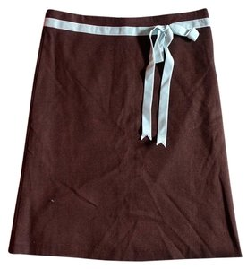 Anthropologie Office Skirt Brown